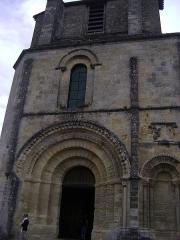 Eglise collégiale Saint-Emilion - Français:   Eglise collégiale Saint-Emilion, Gironde Le portail de l\'Eglise.