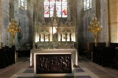 Eglise collégiale Saint-Emilion - Français:   Vue du chœur de la collégiale Saint-Émilion à Saint-Émilion, Gironde, Aquitaine, France.
