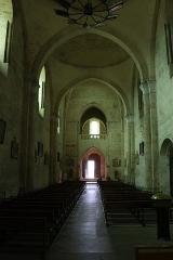 Eglise collégiale Saint-Emilion - Français:   Vue de la nef de la collégiale Saint-Émilion à Saint-Émilion, Gironde, Aquitaine, France.