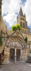 Eglise souterraine monolithe (ancienne église paroissiale Saint-Emilion) - English:   Monolithic church of Saint-Emilion  of the eleventh century, known as the second monolithic church in the world,   Saint-Émilion, Gironde, France.