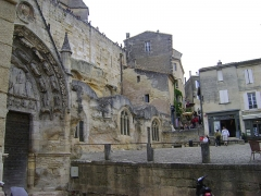Eglise souterraine monolithe (ancienne église paroissiale Saint-Emilion) - Français:   Église monolithe de Saint-Émilion, Gironde. Vue générale.