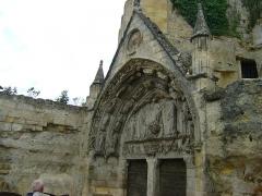Eglise souterraine monolithe (ancienne église paroissiale Saint-Emilion) - Français:   Église monolithe de Saint-Émilion, Gironde. Le portail d\'entrée.