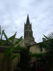 Eglise souterraine monolithe (ancienne église paroissiale Saint-Emilion) - Français:   Église monolithe de Saint-Émilion, Gironde. Le clocher.