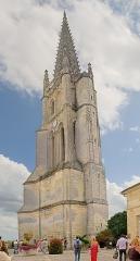 Eglise souterraine monolithe (ancienne église paroissiale Saint-Emilion) - English:   Monolithic church of Saint-Emilion of the eleventh century, known as the second monolithic church in the world, the spire of the bell tower rises to 133 meters,  Saint-Émilion, Gironde, France.