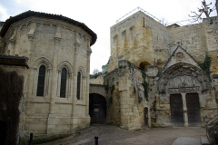 Ermitage ou Chapelle de la Trinité - English: Holy Trinity Chapel and Monolithic church in Saint-Émilion (Gironde, France). National Heritage Site of France.