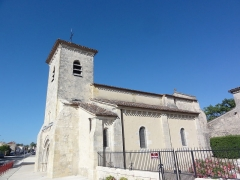 Eglise - English:   Saint-Martin-Lacaussade (Gironde) église, extérieur