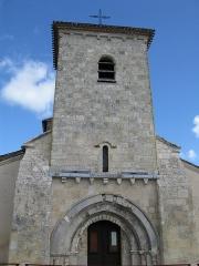 Eglise - Français:   Église de Saint-Martin-Lacaussade,  (Inscrit, 1925)