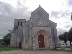 Eglise Saint-Vincent - English: Villeneuve (Gironde) église, façade