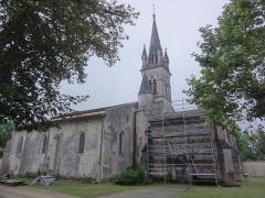 Eglise Saint-Martin - English: Commensacq (Landes) Église Saint-Martin