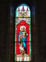 Eglise Saint-Hilaire - English: Lesperon (Landes) église, vitrail 07
