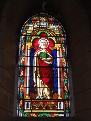 Eglise Saint-Hilaire - English: Lesperon (Landes) église, vitrail 09