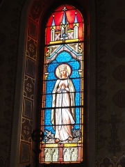 Eglise Saint-Hilaire - English: Lesperon (Landes) église, vitrail 06