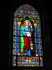 Eglise Saint-Hilaire - English: Lesperon (Landes) église, vitrail 04