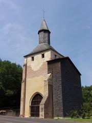 Ancienne église prieurale - Français:   Clocher porche de l\'ancienne église Sainte-Marie de Mimizan, dans le département français des Landes