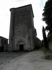Eglise Sainte-Marie - Église Sainte-Marie d'Aubiac (47). Façade occidentale.