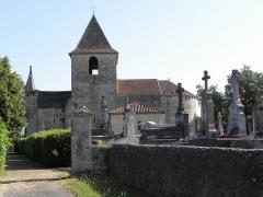 Eglise Saint-Sardos de Laurunque - Français:   Église Saint-Sardos de Laurenque, commune de Gavaudun (47). Vue méridionale.