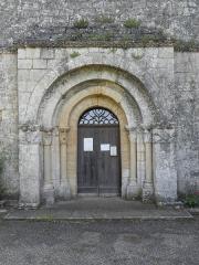 Eglise Saint-Sardos de Laurunque - Français:   Église Saint-Sardos de Laurenque, commune de Gavaudun (47). Portail occidental.
