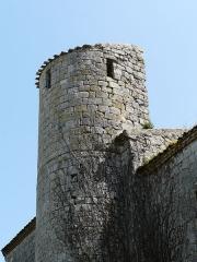 Eglise de Fontarède - Français:   Côté nord, le clocher de l\'église Saint-Étienne de Fontarède, Moncaut, Lot-et-Garonne, France.