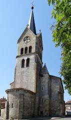 Eglise Saint-Jean - Français:   Prayssas - Église Saint-Jean - Chevet et clocher