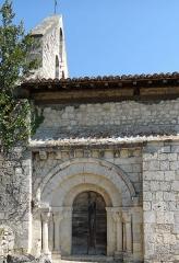 Eglise Saint-Martin de Mourrens - Français:   Sainte-Colombe-en-Bruilhois - Église Saint-Martin de Mourrens - Portail sud et clocher