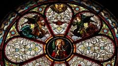 Eglise Sainte-Livrade - Français:   détail de la rosace église de Sainte livrade