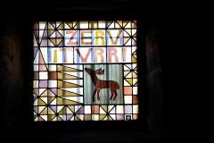 Eglise de l'Assomption -  Ascain, Pays basque - vitrail de l'église Notre-Dame-de-l'Assomption