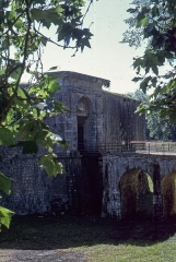 Fortifications -  The the gate, before the construction of the car park.