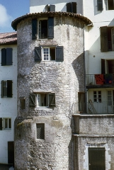 Fortifications - English:  Tower of the executioner, Tour-de-Sault street.
