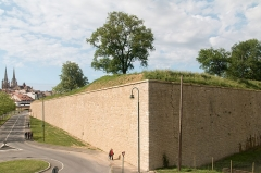 Fortifications -  The walls of the Royal Bastion are cleared of vegetation and consolidated..