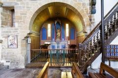 Eglise Saint-Etienne - Église Saint Étienne (Espelette, Pyrénées-Atlantiques, Nouvelle-Aquitaine, France).