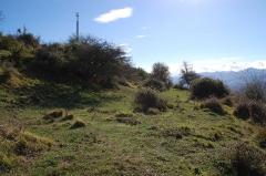 Enceinte protohistorique fortifiée (également sur communes d'Ostabat-Asme et de Lantabat) - Français:   Gaztelu Zahar de Larceveau: vue de la lice creusée sous le parapet.