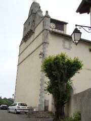 Eglise Saint-Cyprien - English: Mendionde Lekorne, église, clocher-mur