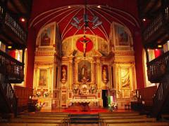 Eglise Saint-Cyprien - English: Mendionde Lekorne, église intérieur