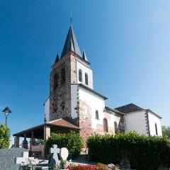 Eglise Saint-Pierre -  Church Saint Peter of Ursakoa (seen from the cimetary).