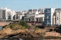 Casino municipal -  Municipal Casino of Biarritz seen from the Atalaye.