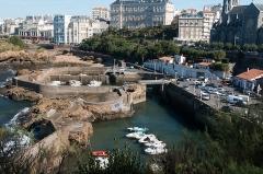Casino municipal -  Fishermans' harbor of Biarritz.