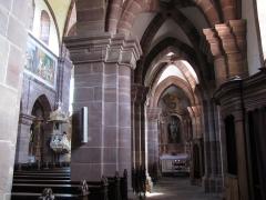 Abbaye -  Alsace, Bas-Rhin, Altorf, Église abbatiale Saint-Cyriaque (PA00084581, IA67011108). Bas-côté sud vers l'autel secondaire
