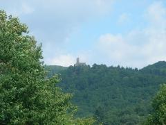 Ruines du château de Spesbourg - Français:   Château du Spesbourg (460 m) à Andlau (Bas-Rhin, France).