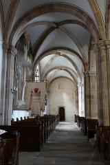Eglise Saint-Pierre-et-Paul dite Sainte-Richarde -  Alsace, Bas-Rhin, Église Saints-Pierre-et-Paul dite Sainte-Richarde (PA00084587, IA00115010).  Bas-côté de la nef.