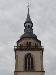 Eglise Saint-Pierre-et-Paul dite Sainte-Richarde -  Alsace, Bas-Rhin, Andlau, Église Saints-Pierre-et-Paul dite Sainte-Richarde (PA00084587, IA00115010).  Sommet du clocher (XVIIIe).