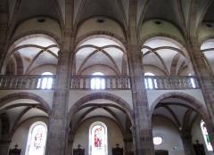Eglise Saint-Pierre-et-Paul dite Sainte-Richarde -  Alsace, Bas-Rhin, Église Saints-Pierre-et-Paul dite Sainte-Richarde (PA00084587, IA00115010).  Voûtes de la nef et des bas-côtés.