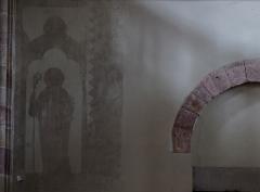 Eglise Saint-Pierre-et-Paul dite Sainte-Richarde -  Alsace, Bas-Rhin, Andlau, Église Saints-Pierre-et-Paul dite Sainte-Richarde (PA00084587, IA00115010).  Peinture monumentale dans le narthex.