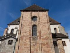 Eglise Saint-Pierre-et-Paul dite Sainte-Richarde -  Alsace, Bas-Rhin, Andlau, Église Saints-Pierre-et-Paul dite Sainte-Richarde (PA00084587, IA00115010).  Sacristie et chevet.