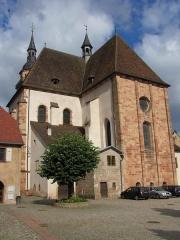 Eglise Saint-Pierre-et-Paul dite Sainte-Richarde -  Alsace, Bas-Rhin, Église Saints-Pierre-et-Paul dite Sainte-Richarde (PA00084587, IA00115010).  Vue extérieure de l'abside.