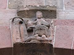 Eglise Saint-Pierre-et-Paul dite Sainte-Richarde -  Alsace, Bas-Rhin, Église Saints-Pierre-et-Paul dite Sainte-Richarde (PA00084587, IA00115010).  Relief roman du massif occidental.