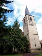Eglise protestante (ancienne église catholique) -  Alsace, Bas-Rhin, Baldenheim, Église protestante (PA00084595, IA67010725).