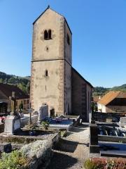 Eglise protestante de Fouday -  Alsace, Bas-Rhin, Fouday, Église protestante (PA00084597, IA67013097).