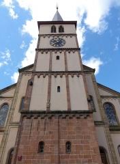 Eglise protestante -  Alsace, Bas-Rhin, Barr, Église protestante Saint-Martin (XIIe-XIXe), rue de l'Église (PA00084598, IA00115060).