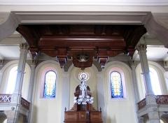 Eglise protestante -  Alsace, Bas-Rhin, Barr, Église protestante Saint-Martin (PA00084598, IA00115060): Vue sous la tribune d'orgue.