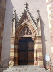 Eglise catholique Notre-Dame -  Alsace, Bas-Rhin, Église Notre-Dame de l'Assomption de Bernardswiller (PA00084612, IA00023770).